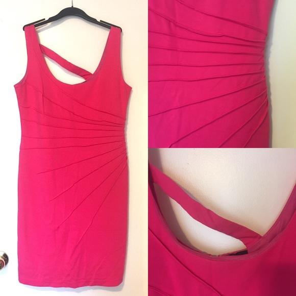 NWOT Point Zero Neon Pink Sheath Sleeveless Dress
